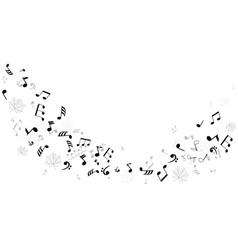 Notes leaf dance vector