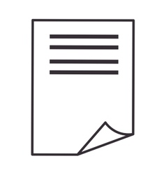 Paper sheet page vector