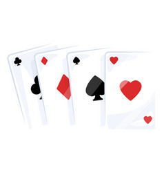 playing cards icon classic gambling design set vector image