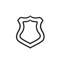 Police badge sketch icon vector