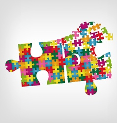 Puzzle in puzzle vector image