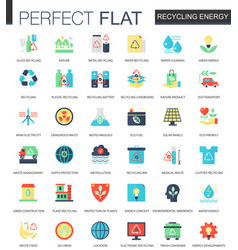 Recycling energy complex flat icon concept vector