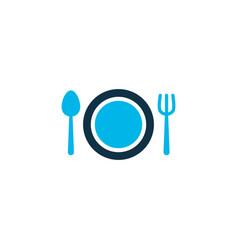restaurant icon colored symbol premium quality vector image