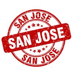 San jose red grunge round vintage rubber stamp vector