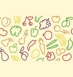 seamless fruktovo-vegetable background vector image