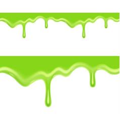 seamless green slime vector image