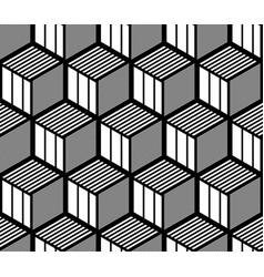 Seamless op art geometric pattern vector