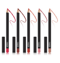 set of lip pencil mockup package design premium vector image