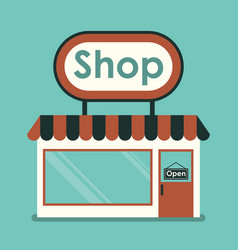 shop front vector image
