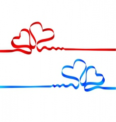silk tape heart vector image