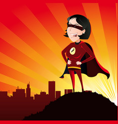 Super hero - female vector