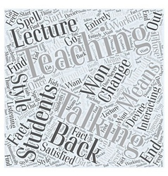 Talking to students or talking at them word cloud vector