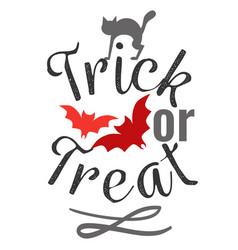 trick or treat happy halloween logo sign vector image