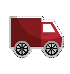 Truck vehicle icon vector