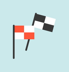 victory flag flat icon soccer and racing related vector image