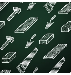 Chalk background tools vector image