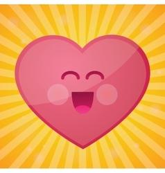 funny cartoon heart happy valentines day vector image vector image