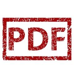 PDF grunge rubber stamp vector image