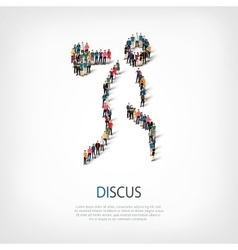 people sports discus vector image vector image