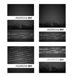 prospectus black group vector image vector image
