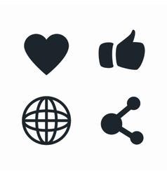 set social media isolated design vector image