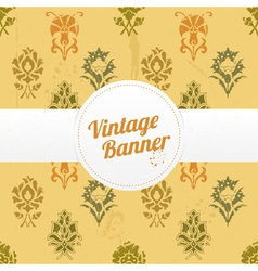 Vintage banner with flowers vector