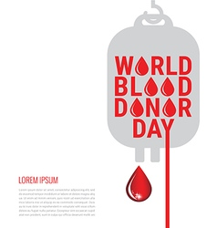 World Blood Donor Day Poster vector image vector image