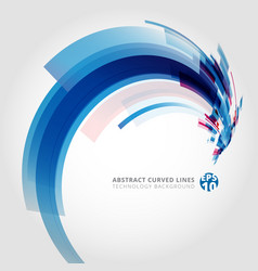 abstract background element in blue and pink vector image vector image