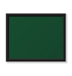 Chalkboard with black Frame realistic Template vector image vector image