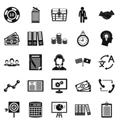 customers of the bank icons set simple style vector image vector image