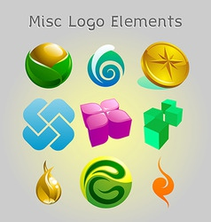 graphic logo elements vector image