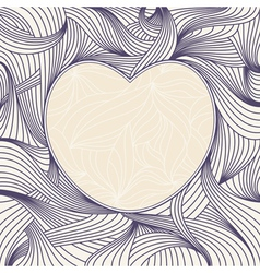 romantic heart frame vector image vector image