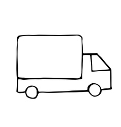 truck doodle drawing isolared vector image