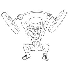 Weightlifter Cartoon vector image vector image