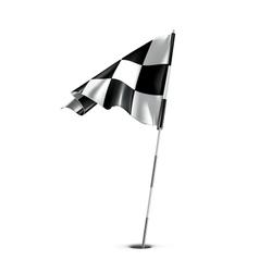 Checkered golf flag vector image vector image