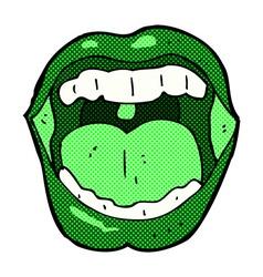 comic cartoon halloween mouth vector image