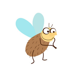 funny fly cartoon vector image vector image