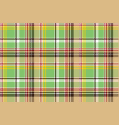 green plaid pixel texture madras color fabric vector image