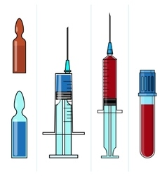 Set of medicine and healthcare objects such as vector image