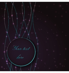 Abstract background with blue light bubble effects vector image