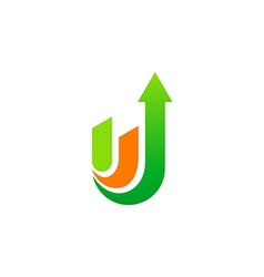 arrow up business logo vector image vector image