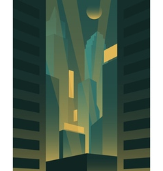 Big night city background vector image vector image