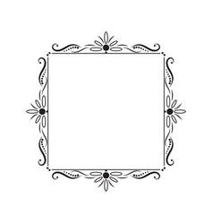 black vintage square contour frame vector image vector image
