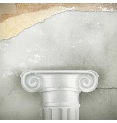 Column vintage background vector