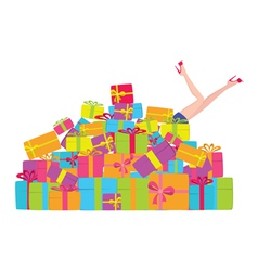 pile of presents vector image vector image