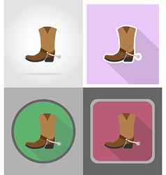 Wild west flat icons 15 vector