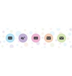 5 client icons vector