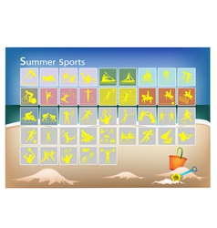 A Mega Set of 41 Summer Sport Icons vector image