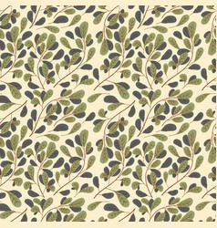 abstract leaf green ornament pattern background vector image