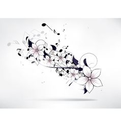 abstract musical floral background vector image